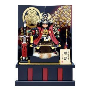 五月人形 大将飾り 子供大将 8号 徳川家康 大将二曲飾り taisyou60-69 5月人形|jinya
