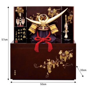 五月人形 子供大将飾り 上杉謙信 大将 8号 甲冑 taisyou60-69 jinya