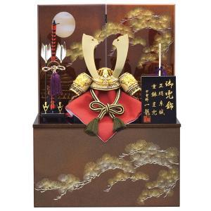 五月人形 収納飾り 兜飾り 7号 皇輝王兜松月収納飾り kabuto-49 5月人形|jinya