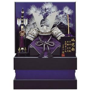 五月人形 収納飾り 兜飾り 8号 神紫兜銀松収納飾り kabuto-49 5月人形|jinya