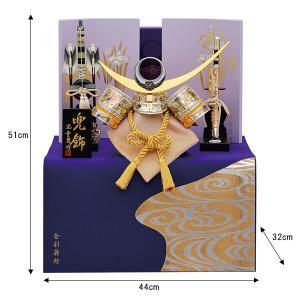 五月人形 着用兜 兜飾り 収納飾り 銀彫金はやぶさ 着用兜 25号 kabuto60-69|jinya