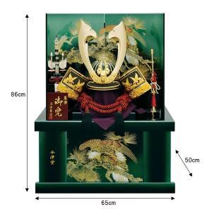 五月人形 着用兜 兜飾り 収納飾り 銀中鍬盛上彫金 着用兜 25号 kabuto60-69|jinya
