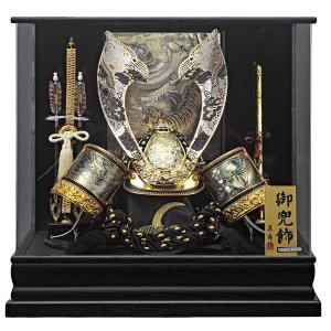 五月人形 兜飾り コンパクト 着用 ケース 入り 兜飾りセット 155-768 kabuto60-69|jinya