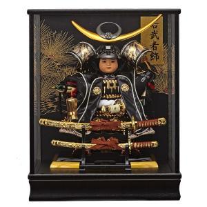 五月人形 大将飾り 子供大将 ケース飾り上杉謙信 165-908 taisyou-49|jinya