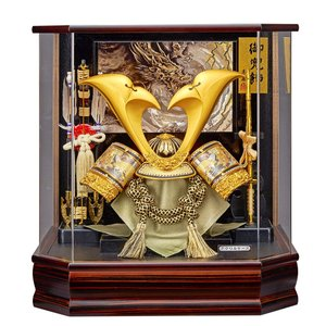 五月人形 兜飾り コンパクト ケース 入り かぶと 155-722 kabuto-49 5月人形|jinya