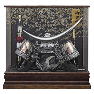 五月人形 伊達政宗 着用兜 ケース飾り コンパクト アクリルケース入り kabuto 兜飾りセット|jinya
