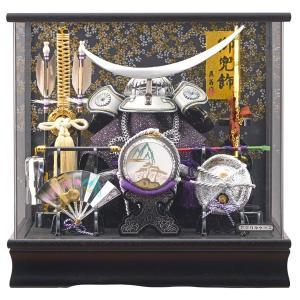 五月人形 伊達政宗 かぶと アクリルケース飾り コンパクト ケース入り 銀色 シルバー兜飾りセット|jinya