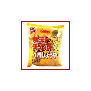 ポテトチップス九州しょうゆ 58g カルビー お菓子 スナック菓子|jinya