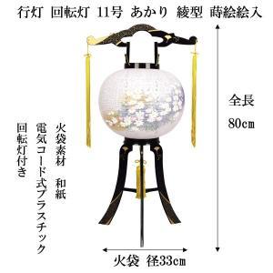 盆提灯 盆ちょうちん ちょうちん 行灯 回転灯 あかり綾型蒔絵絵入 11号 電気コード式 2019 jinya