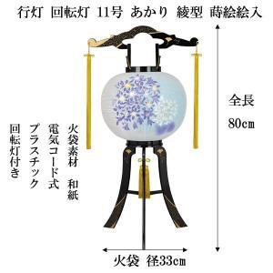 盆提灯 盆ちょうちん ちょうちん 行灯 回転灯 あかり綾型蒔絵絵入 11号 電気コード式 jinya