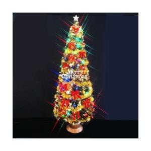 クリスマスツリー グリーンファイバーツリーセット240cm11 マルチLED球付|jinya