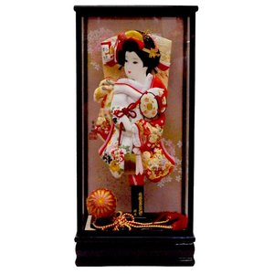 羽子板飾り 初正月 羽子板 15号 ほんつげ かんざし 刺繍振袖|jinya