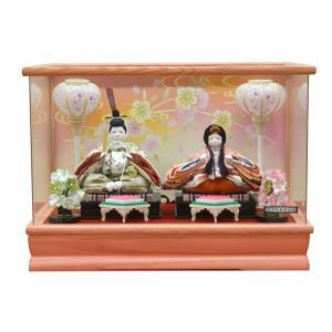 雛人形 ケース飾り コンパクト ひな人形 親王飾り アクリルケース ミニ お雛様 JIN雛 シリーズ|jinya