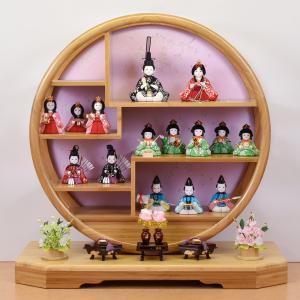 雛人形 五段飾り 15人飾り ミニ段飾り 雛人形5段十五人飾り コンパクト 小さい お雛様 |jinya
