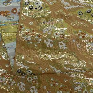 金襴生地 金襴の布 ピンクに菊柄|jinya