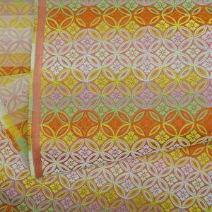 金襴生地 金襴の布 有職ピンク|jinya