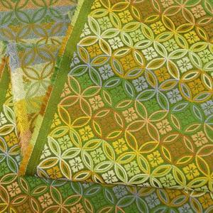 金襴生地 金襴の布 有職 緑|jinya