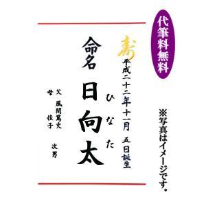 命名紙 命名 お七夜 ご出産 お祝い 名前 代筆無料|jinya