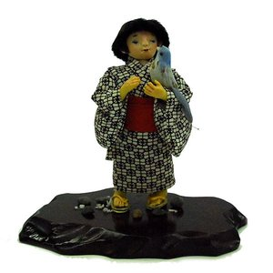 日本人形 童人形 鳥(水色) 訳あり品 倉庫管理品|jinya