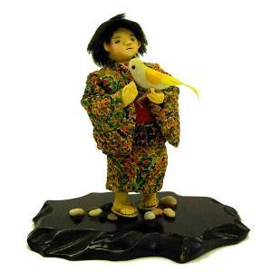 日本人形 童人形 鳥(黄色) 訳あり品 倉庫管理品|jinya