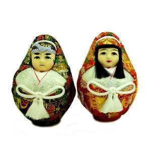 日本人形 3号 姫ダルマ 一対(大) 訳あり品 倉庫管理品|jinya