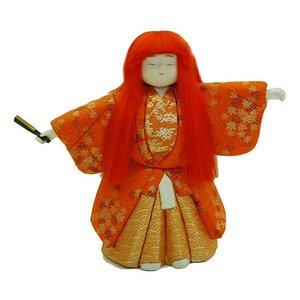 日本人形 木目込人形 能人形 12号 猩々 訳あり品 倉庫管理品|jinya