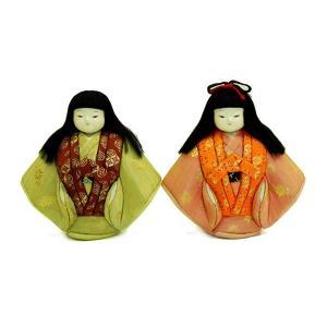日本人形 木目込人形 福わらべ 一対 訳あり品 倉庫管理品|jinya