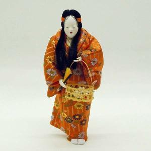 【訳あり品】【倉庫管理品】日本人形 木目込人形 花筐|jinya