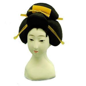 日本人形頭 顔 手芸品 部品 八寸 芸者|jinya