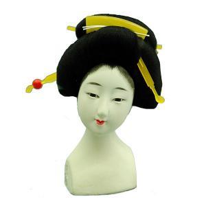 日本人形頭 顔 手芸品 部品 10号 芸者 石膏|jinya