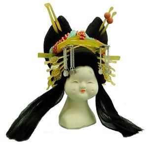 日本人形頭 顔 手芸品 部品 太夫 (大) (訳あり品)当商品は倉庫管理品(商品在庫品)となっており...