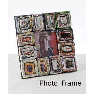 (送料無料在庫処分セール)外国の広告を利用してオシャレに飾ったエコPHOTO Frame(フォトフレーム・写真たて)|jitacollection