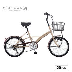 自転車 小径車 完全組立 20インチ アルクス 外装6段変速 ミニベロ 小型 サカモトテクノ|jitensha-box