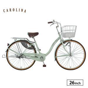 自転車 完全組立 通勤 通学 26インチ 変速なし カロリーナ サカモトテクノ|jitensha-box