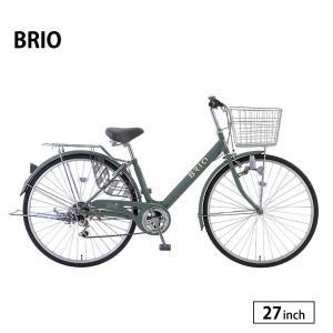 自転車 シティサイクル 完全組立 27インチ ブリオ 外装6段変速 サカモトテクノ jitensha-box