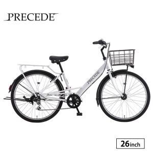 自転車 シティサイクル 完全組立 26インチ プリシード 外装6段変速 サカモトテクノ|jitensha-box