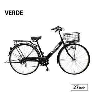 自転車 シティサイクル 完全組立 27インチ ベルデ 外装6段変速 サカモトテクノ|jitensha-box