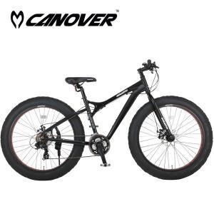 CANOVER(カノーバー) CAFT-052-DD GOLIATH(ゴライアス)|26インチ21段変速ファットバイク|jitenshaproshop