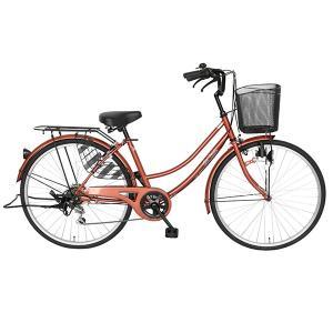 ママチャリ 26インチ 自転車 変速 6段ギア...の詳細画像1