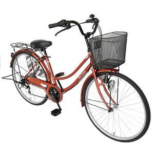 ママチャリ 26インチ 自転車 変速 6段ギア...の詳細画像2