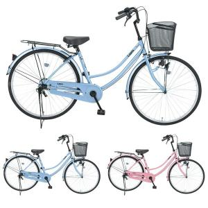 【Xmas特典付】ラピス 27インチ 変速無し ダイナモライト LP27 新品/ だいわ自転車 ファミリーサイクル 【大サイズ】|jitensya-ousama