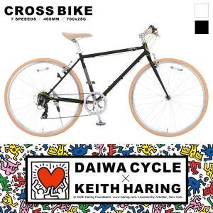【地域限定送料無料】キースへリング×ダイワサイクル コラボ クロスバイク 700C / KH-7007-460 KEITH HARING 【大サイズ】|jitensya-ousama