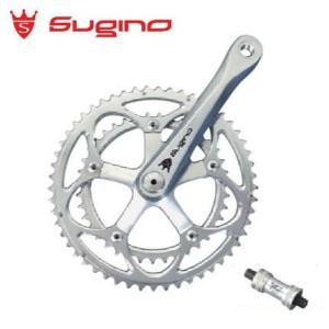 sugino Mighty Comp 901D マイティーコンプ SL/SL クランク長:175mm BB付属 クランクセット/ スギノ 自転車パーツ((送料0円))|jitensya-ousama