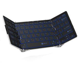 キーボード 【送料無料 12ヶ月保証】iClever ワイヤレスキーボード 折りたたみ 薄型 フルサ...
