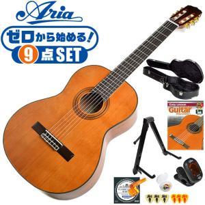 初心者セット クラシックギター 7点 入門セット Aria Classic Guitar A20 アリア アコースティック A-20 ハードケース付属 jivemusic