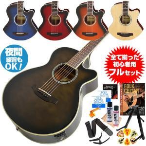アコースティックギター 初心者セット アリア エレアコ 13...