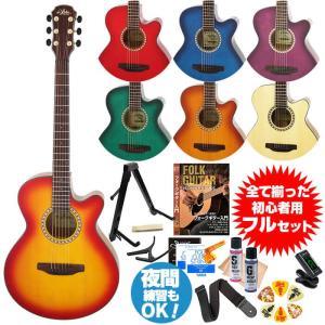 初心者セット アコースティックギター アリア アコギ 13点...