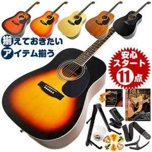 アコースティックギター 初心者セット アコギ WG10 12...