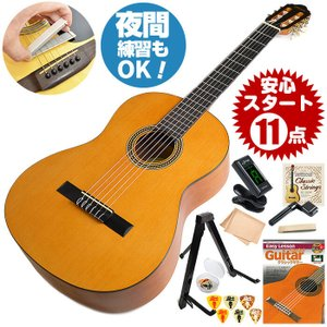 クラシックギター 初心者セット バレンシア VC264 11点 (ギター 初心者 入門 セット)