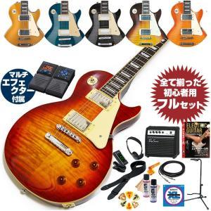 エレキギター 初心者セット レスポール グラスルーツ G-LP-60S (エレキ ギター 初心者 マルチエフェクター付属 19点 入門セット) GrassRoots by ESP